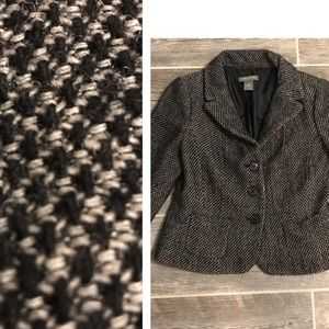 Ann Taylor lined Tweed Jacket size 8 petite